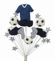 Football 13th birthday cake topper decoration blue shirt - free postage